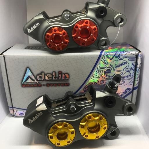 ปั๊มดิสล่างด้านขวา (Adelin) ADL-11R 4Pot หูชิดคละสี